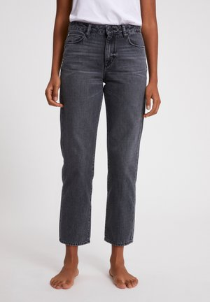 FJELLAA CROPPED - Straight leg jeans - clouded grey