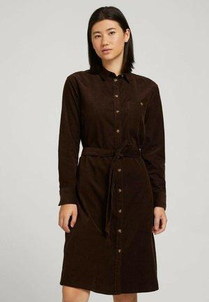 Shirt dress - java dark brown