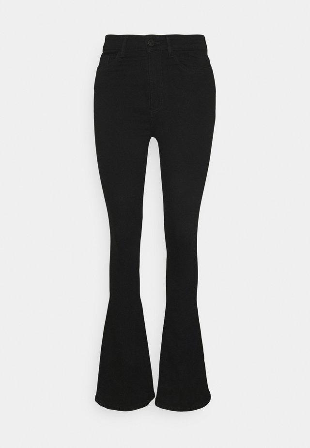 NMSALLIE - Flared Jeans - black