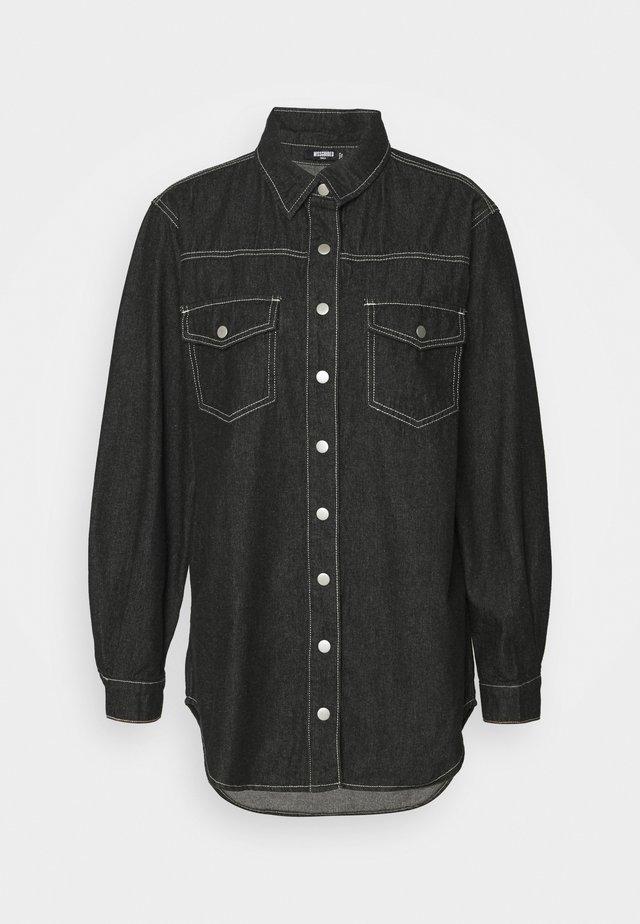 CONTRAST STITCH - Camisa - black