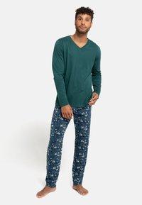 Schiesser - Pyjama set - grün - 0