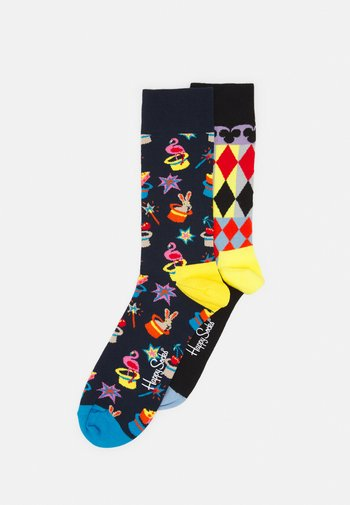MAGIC ABSTRACT CARDS SOCK UNISEX 2 PACK