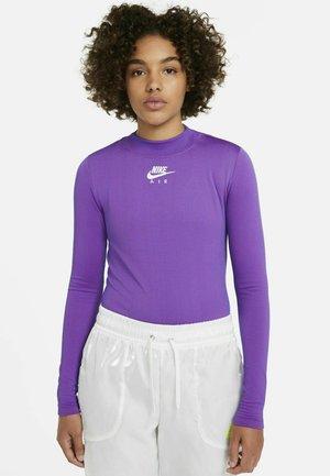 MOCK - Long sleeved top - fireberry/hyper royal/white
