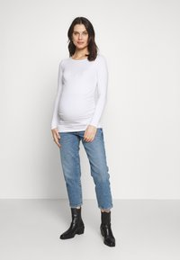 Balloon - RUSHED BASIC WITH LONG SLEEVES - Maglietta a manica lunga - white - 1