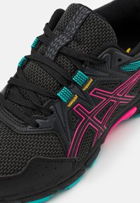 ASICS - GEL-VENTURE 8 - Trail running shoes - black/pink glow - 5