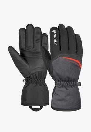 Gloves - blck/blck melang/fire red