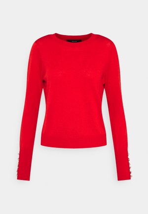 VMCARINA7 O NECK BLOUSE - Jumper - chinese red/white melange