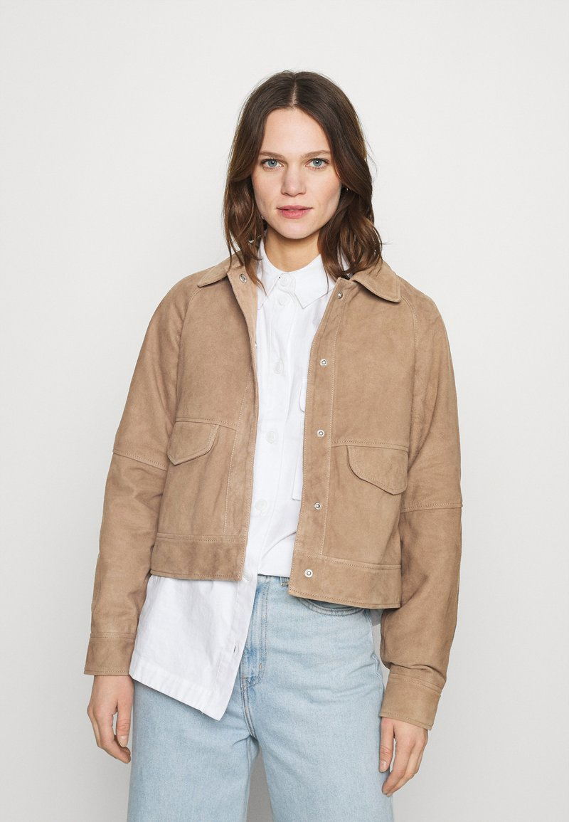 Deadwood - KYLIE - Leather jacket - sand