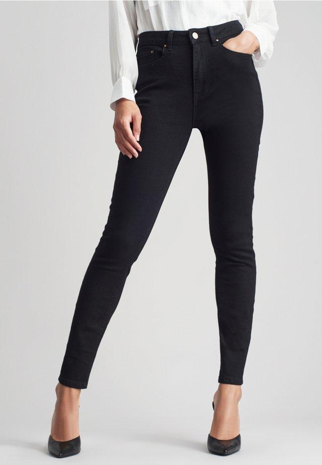 SUPER HIGH WAIST - Skinny džíny - black