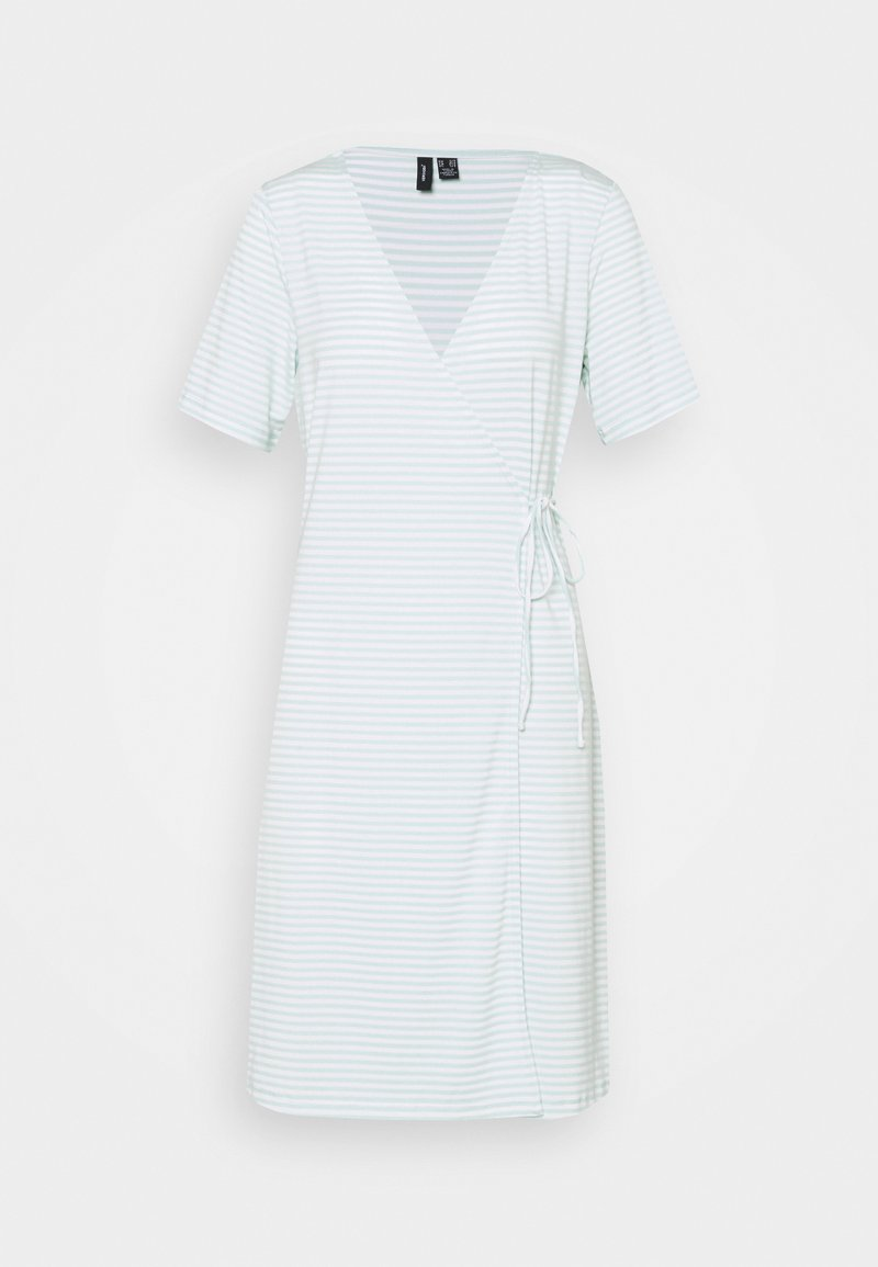 Vero Moda Tall - VMKATE SHORT DRESS - Jersey dress - icy morn/white