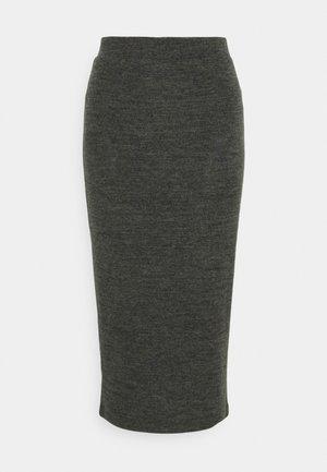 PCPAM PENCIL SKIRT - A-line skirt - dark grey melange