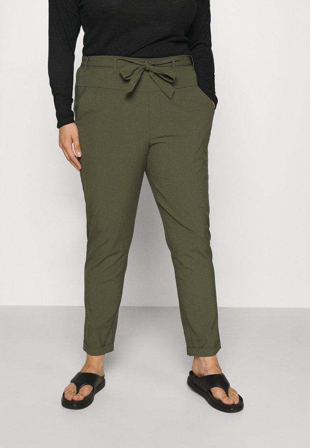 JIA BELT PANTS - Trousers - grape leaf