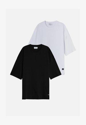 2 PACK - OVERSIZED - T-shirt basique - black/white