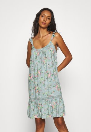 FLORAL CHEMISE - Nightie - aqua mix