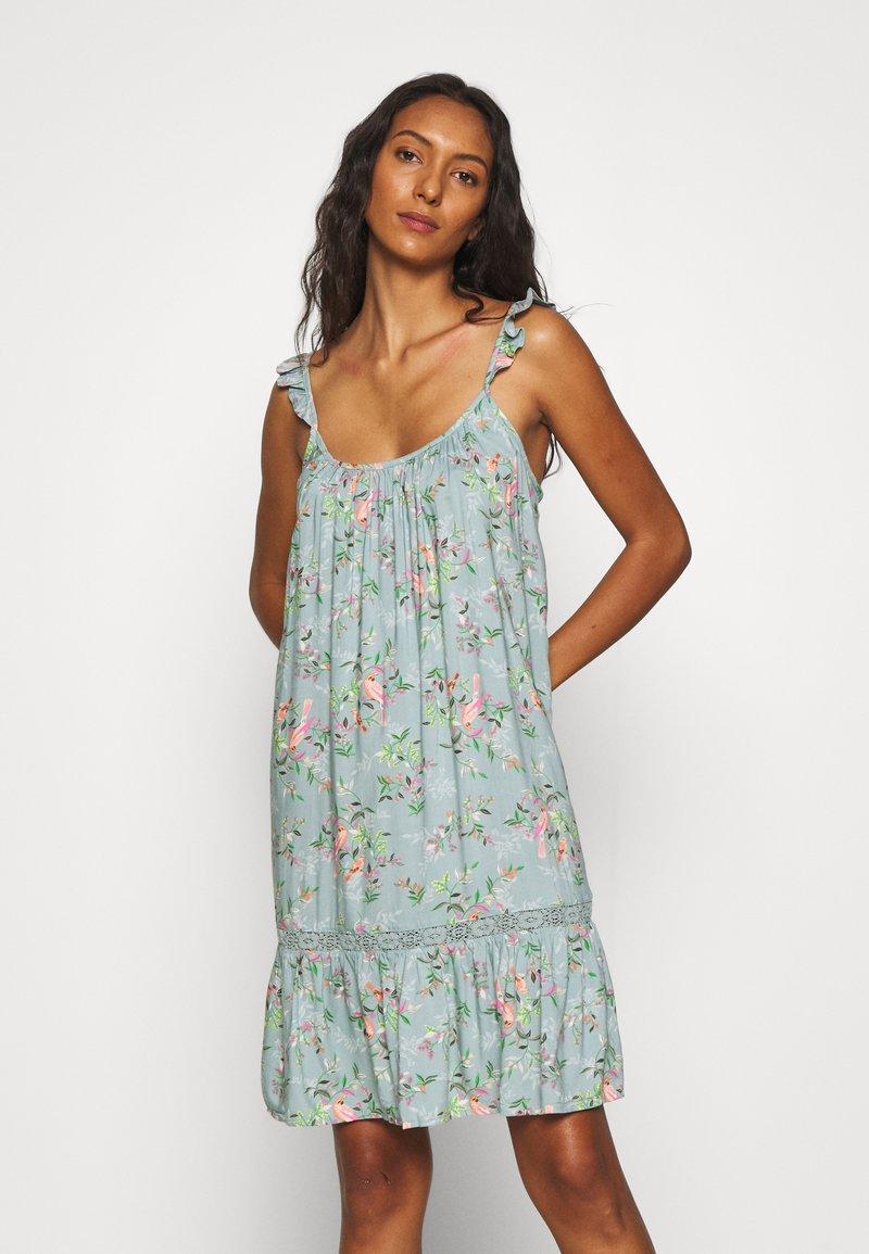 Marks & Spencer London - FLORAL CHEMISE - Nattskjorte - aqua mix
