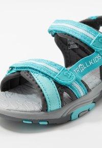 TrollKids - GIRLS PREIKESTOLEN - Walking sandals - mint/grey - 2