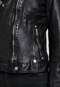 Gipsy - FAMOS - Giacca di pelle - black - 5