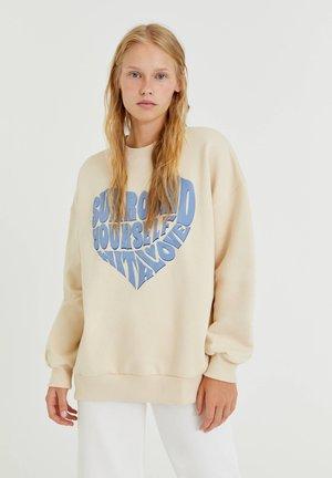 Sweatshirt - mottled beige