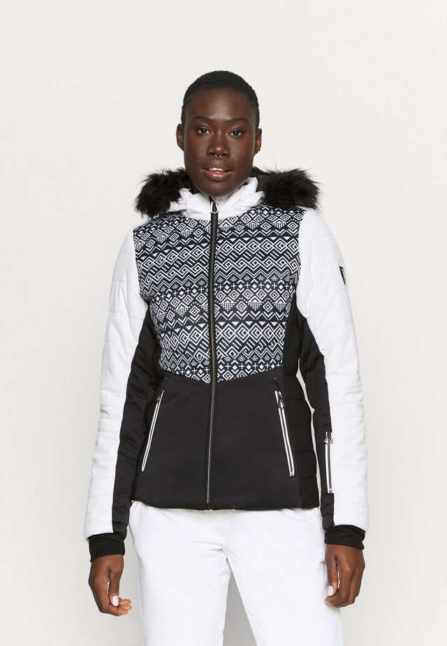 AURORAL JACKET - Ski jas - black/white