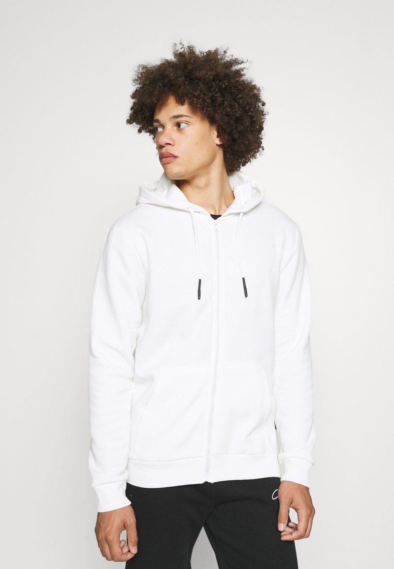 Only & Sons - ONSCERES LIFE ZIP HOODIE - Zip-up sweatshirt - bright white