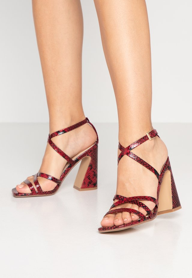MEREDITH - High heeled sandals - red
