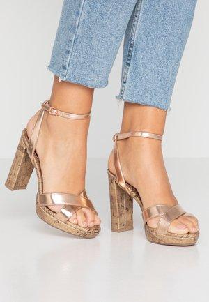 PORKS - High heeled sandals - rose gold