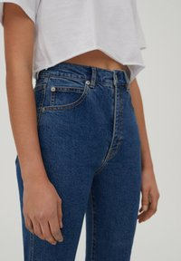 PULL&BEAR - SLIM MOM - Jeans slim fit - dark blue - 3