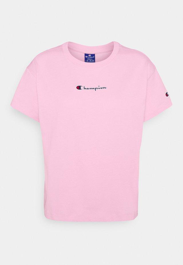 CROP - T-Shirt print - pink