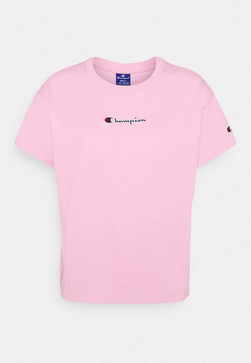 Champion Rochester - CROP - Triko spotiskem - pink