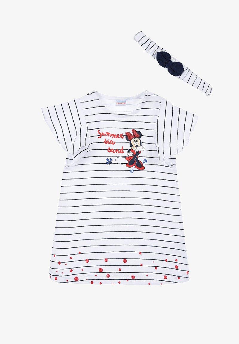 Mickey & Minnie - MINNIE MOUSE BABYKLEID MIT HAARBAND - Jersey dress - dunkel blau