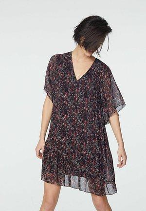 FLORAL PRINT VOILE  - Robe d'été - noir