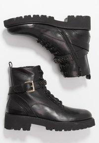 Steven New York - XIAMARA - Cowboy/biker ankle boot - black - 3