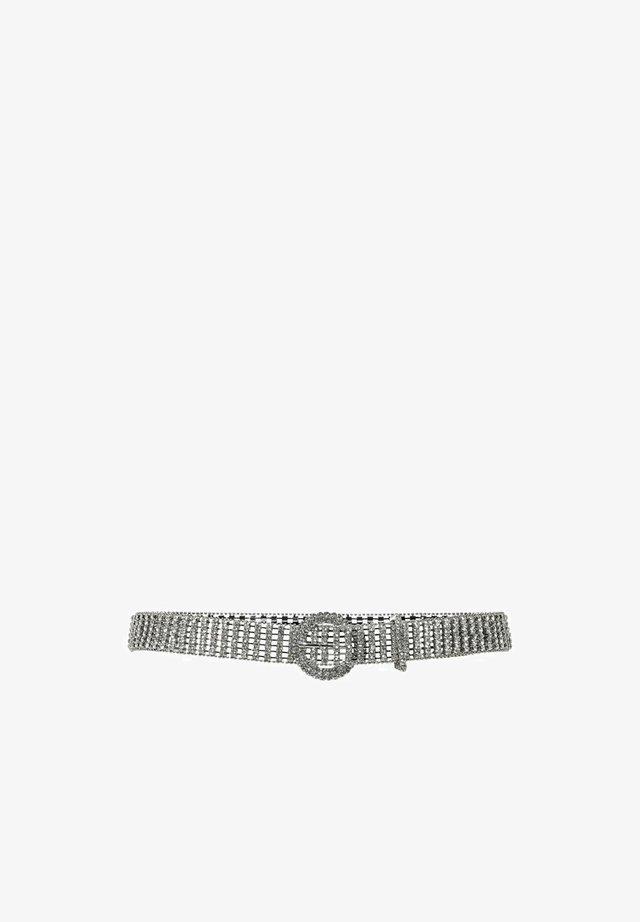 GLITZER - Belt - silver
