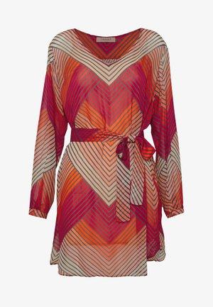 TUNICA GEOMETRICA E CINTURA - Day dress - multi-coloured