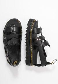 Dr. Martens - TERRY - Sandály na platformě - black brando - 3