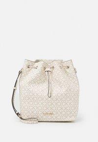 DRAWSTRING BUCKET BAG MONOGRAM - Across body bag - white