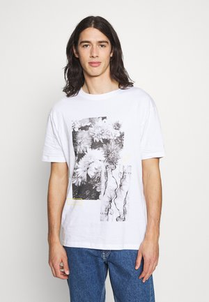 FLORAL ABSTRACT TEE UNISEX - Print T-shirt - white