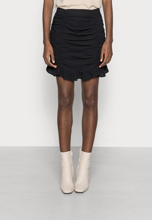 COORD RUCHED SKIRT LOOK - Minisukně - black