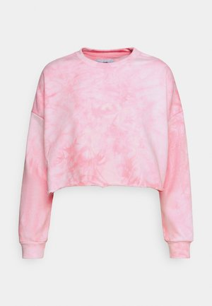 TIE&DYE CROPPED - Sweatshirt - pink