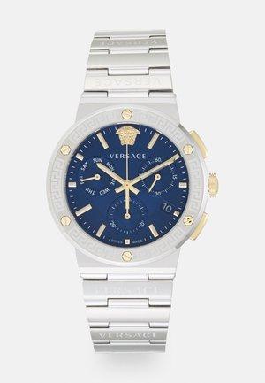 GRECA LOGO - Cronografo - silver-coloured/blue