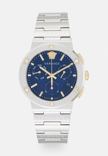 GRECA LOGO - Zegarek chronograficzny - silver-coloured/blue