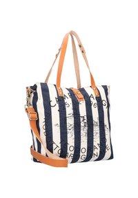 Campomaggi - Handbag - naturale-righe blu-st.nera - 2