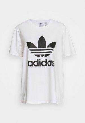 TREFOIL TEE - T-shirts med print - white/black