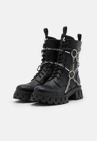 Koi Footwear - CYRUS - Šněrovací kotníkové boty - black - 1