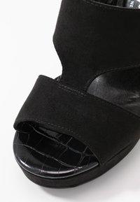 New Look Wide Fit - WIDE FIT ZARTY  - Sandály na vysokém podpatku - black - 2