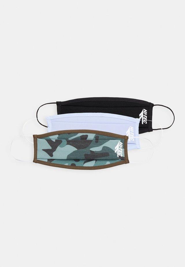 MEECA FACE MASK  3 PACK - Maska z tkaniny - black - camo - blue