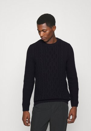 BARBOUR CHUNKY CABLE CREW - Jumper - navy