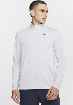 NIKE DRI-FIT VICTORY HERREN-GOLFOBERTEIL MIT HALBREISSVERSCHLUSS - T-shirt de sport - sky grey/gridiron/white/gridiron