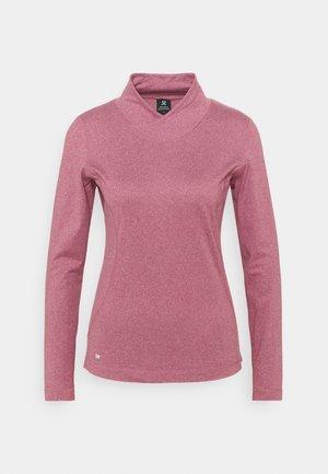 AGNES MOCK NECK - Long sleeved top - plum