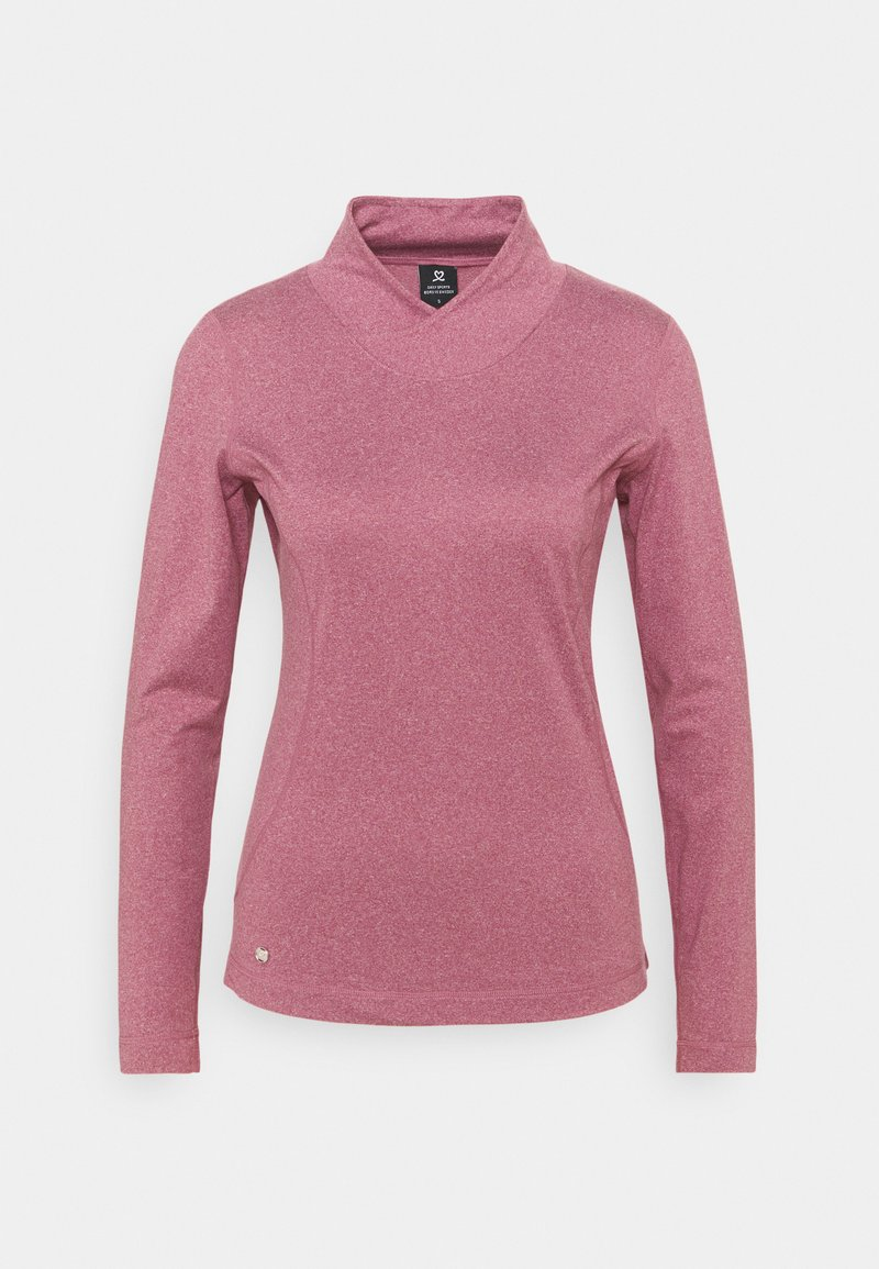 Daily Sports - AGNES MOCK NECK - Long sleeved top - plum